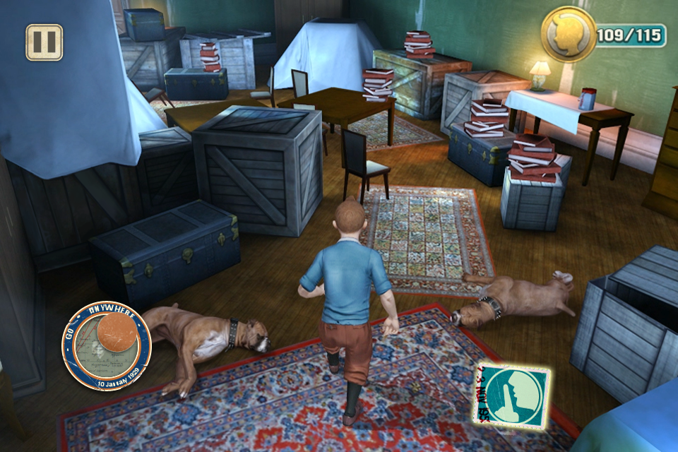 【Gameloft出品】电影《丁丁历险记:独角兽号的秘密》游戏